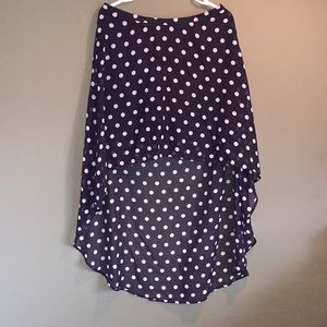 Forever 21 Polka Dot High-Low Skirt